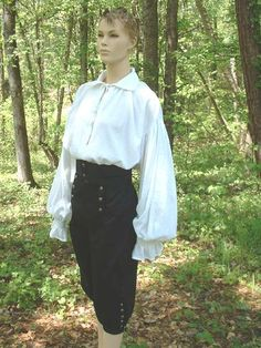 Renaissance Pirate Shirt Poet Shirt Musketeer Shirt Unisex Adult Adult sizes Made to Order Renaissance Shirt, Renaissance Pirate, Renaissance Clothing, Punk Outfits, Cool Outfits, Fashion Outfits, Gothic Fashion, Clown Halloween, Poet Shirt