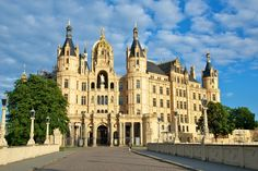 Schwerin Castle, Germany: First reports of the castle were made in 973, and currently serves as the seat of the state parliament.