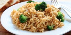 Slow Cooker Cheesy Rice & Broccoli - A FAVORITE from our Website!  www.GetCrocked.com