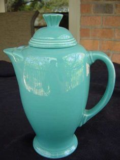 Fiesta Coffeepot with Lid - Turquoise - Post 86 - Homer Laughlin