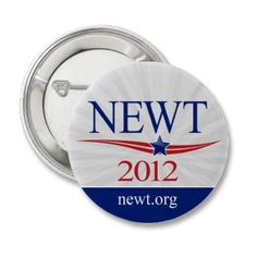 Newt Gingrich for President 2012 Pinback Buttons