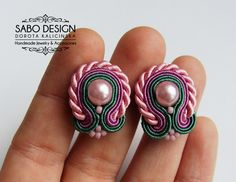 Soutache earrings - soutache jewelry - gift ideas - embroidered earrings - SABO DESIGN