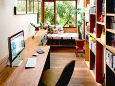 20 Crazy-Cool Workspaces to Inspire Your Most Productive Year Yet: Get those creative juices flowing. Apartment Office, Home Office Space, Home Office Design, Home Office Decor, House Design, Home Decor, Office Spaces, Office Style, Interior Architecture