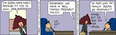 Dilbert Classics by Scott Adams for Thu 25 Mar 2021 #Dilbert #Comics Dilbert Comics, Friends Family, Family Guy, Scott Adams, Going Home, Comic Strips, Cartoons, March, Jokes