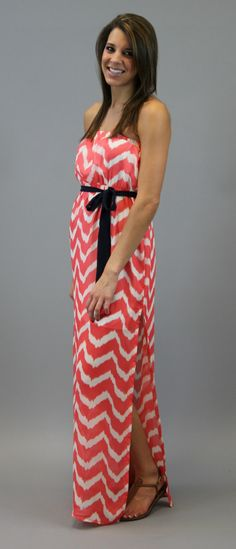 Chevron Fever Maxi  - Pink... Good for baby shower clothes!