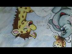 Pintando o Elefantinho e a borboleta - YouTube