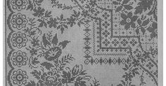 Scheme beautiful large tablecloth with flowers