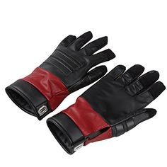Custom made Deadppol gloves like those from the movie. All in the details for cosplay! Deadpool Comic Book, Deadpool Mask, Deadpool Costume, Fancy Dress, Custom Made, Spiderman, Gloves, Comic Books, Cap