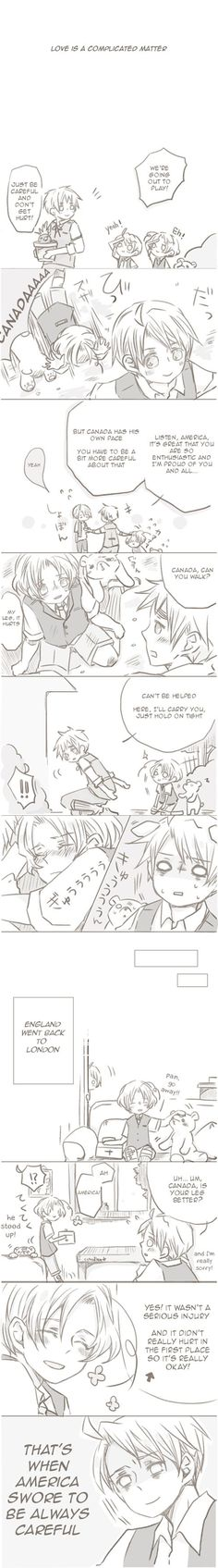 fancomic starring Arthur, Alfred, and Matthew. Original Japanese by Meie on…
