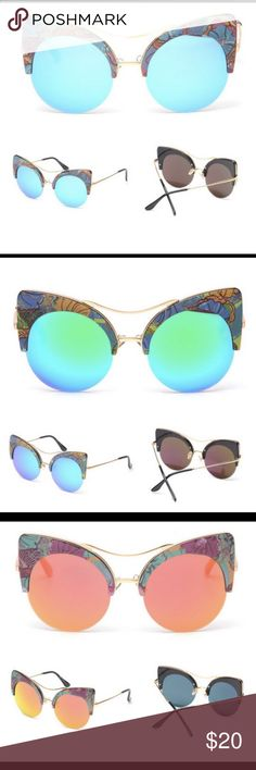 Frida Sunglasses Floral +Mirrored Lens Frida Sunglasses Floral +Mirrored Lens Accessories Sunglasses