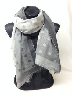 Sciarpa melange pois jacquard. Jacquard dots melange scarf. www.millenium-srl.it