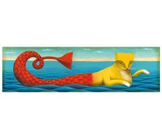 Cat mermaid Print 47 x 155 inches limited edition by Thesmokingcat, €25.00