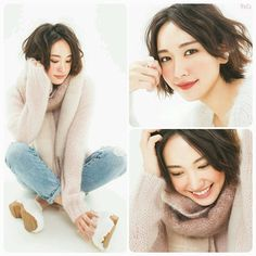 今日から真似できる!新垣結衣・ガッキーになれるメイク術♪ Japanese Eyes, Japanese Beauty, Japanese Girl, Winter Hairstyles, Short Bob Hairstyles, Girl Short Hair, Short Girls, Asian Cute, Portrait Images