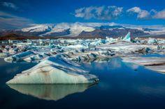 The beauty of Jokulsarlon Glacier Lagoon in Iceland