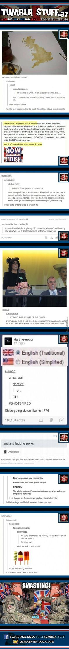 Oh the British!