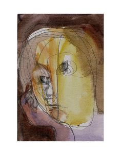 art painting people woman original canvas watercolor by marina826
