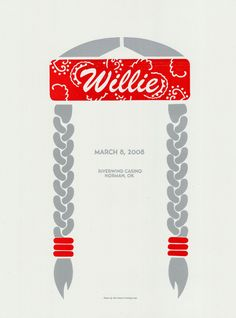 """dazzlingdelta:didyouevernotice: """" """" Willie Nelson Poster by Dirk Fowler """" saw willie at farm aid, it was fun! """" another great rock poster. Omg Posters, Band Posters, Music Posters, Willie Nelson, Grafik Design, Concert Posters, Graphic Design Typography, Graphic Art, Graphic Design Inspiration"""
