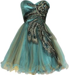 Metallic Peacock Embroidered Holiday Party Prom Dress Junior Plus Size, Size: 3X, Color: Turquoise
