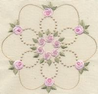 Bullion Rose Quilt 1 - Artistic Designs   OregonPatchWorks