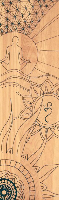 free your mind wooden handmade work.