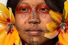 A Brazilian indigenous woman attends a cultural event at the World Indigenous Games
