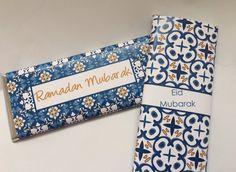 Ramadan and Eid personalized Blue & White candy by UpANotchGifts