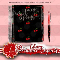 Planner cliparts cherry clipart planner love must have | Etsy