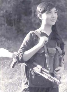 Beautiful Viet Cong Lady Fighter