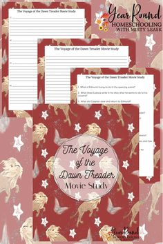 This The Voyage of the Dawn Treader Movie Study is a fun resource that the entire family can do together as part of your next family movie night. #ChroniclesofNarnia #TheChroniclesofNarnia #Narnia #MovieStudy #Printable #Homeschool #Homeschooling #YearRoundHomeschooling