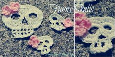 Pensieri, Crocette, Animali: Funny crochet skulls!!!
