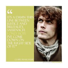 Outlander quotes.- Jamie & Claire. (x-x) Outlander Quotes, Outlander Book Series, Sam Heughan Outlander, Outlander Tv, Epic Story, Love Story, Jaime Fraser, Photos On Facebook, New Tv Series