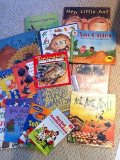 ant books, recipe, and craft, to supplement Truman's Aunt Farm, FIAR