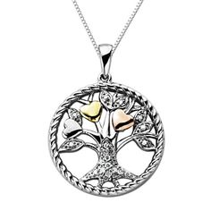 Cyndis list cyndislist on pinterest amazon xpy sterling silver and 14k yellow and pink gold tree of life mozeypictures Image collections