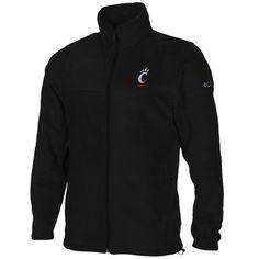 Columbia Cincinnati Bearcats Flanker Full Zip Fleece Jacket - Black