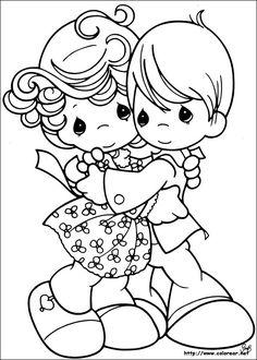 Precious Moments Wedding Coloring Pages | Dibujos de Preciosos Momentos