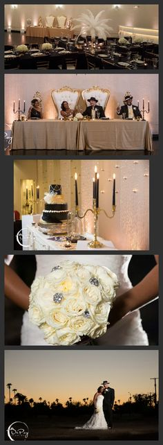 These photos from the Harlem Night themed wedding are gorgeous. Our ornate baroque statement pieces can accent almost any theme. Hollywood glam, Great Gatsby or South Asian. Black and Gold look amazing together. We truly have  Arizona's most unique rental inventory. Your party or event can be one of a kind with just one visit. Come play in our warehouse of fun.