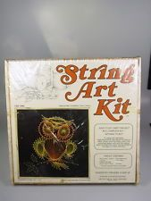 $32 OWL String Art Kit McCulla Crafts 1203 Shrink wrapped Package New 1970s Vintage