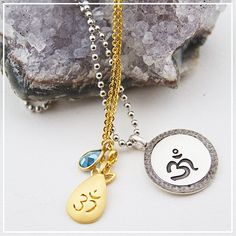 Two exclusive pieces designed to benefit @thechoprafoundation be #inspired by the season of #giving. #OM #DeepakXSatya #necklaces #zen #give #love #happy #lotus #TheChopraFoundation #DeepakChopra #SatyaJewelry #DesignedForTheJourney