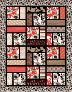 Denovo Quilt Pattern. Reminds me of a simplified Turning Twenty.