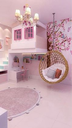 Bed For Girls Room, Bedroom Decor For Teen Girls, Little Girl Rooms, Baby Room Decor, Cute Room Decor, Cute Rooms For Girls, Girls Pink Bedroom Ideas, Baby Girl Rooms, Cool Kids Rooms
