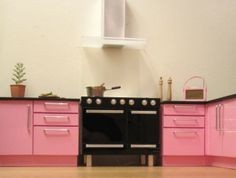 1:12 range stove in pink kitchen   Flickr - Photo Sharing!