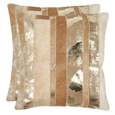 Wrapped in rich cowhide, this pillow brings contemporary Western inspiration to your sofa, settee, or arm chair.