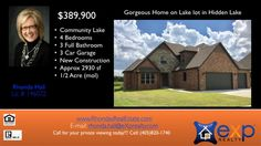 4 Bedroom 3 bath home in Hidden Lake  https://gp1pro.com/USA/OK/Canadian/Oklahoma_City/Hidden_Lake/9716_SW_21st_St.html  4 Bedroom 3 bath home in Hidden Lake - www.rhondasrealestate.com - Hidden Lake Lot Home - Approximately 1/2 acres of space on this gorgeous lake view lot and a Brent Gibson Classic Home Design. The smart, open floor plan features a large 18x22 living area complimented with a wall full of windows overlooking the community lake. The engineered wood/tile flooring, custom…