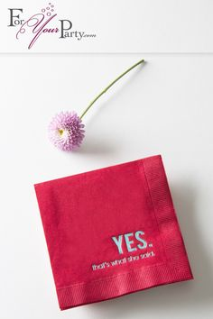 Are you celebrating an important milestone in your life? Add that special flair that makes your event one to remember with personalized napkins from ForYourParty.com!