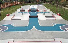 NIKE templo mayor skatepark in mexico city