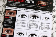 Ya gotta love a helpful how-to chart that comes with your makeup.