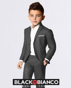 Toddler Ivory /& Black Dinner Jacket Kids Tuxedo with Black Pants Ring Bearer Suit Lito Childrens Wear Boys Tuxedo