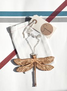 Image of Dragonfly necklace Dragonfly Necklace, Burlap, Reusable Tote Bags, Necklaces, Image, Hessian Fabric, Chain, Collar Necklace, Wedding Necklaces