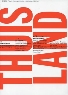 OASE Journal of Architecture - Issue 68 - Cover design Karel Martens