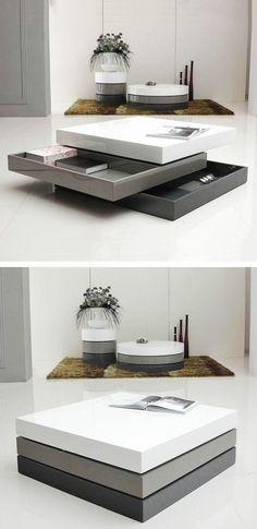 conforama table basse design pas cher de couleur blanche et gris